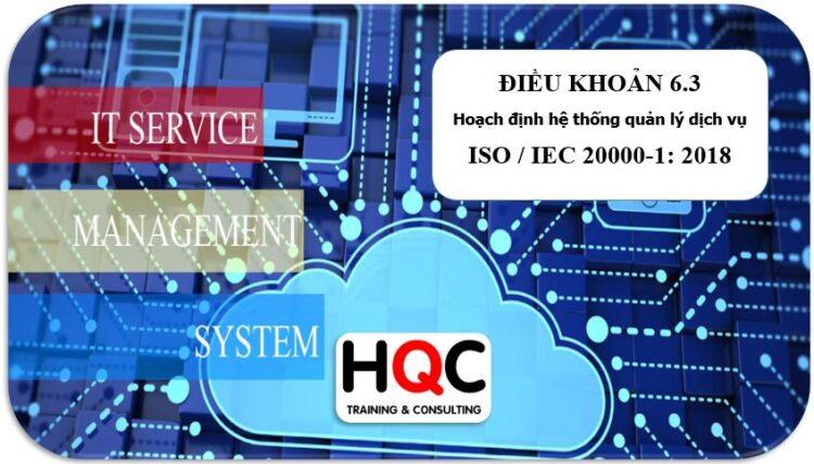 Điều khoản 6.3 hoạch định ISO 20000