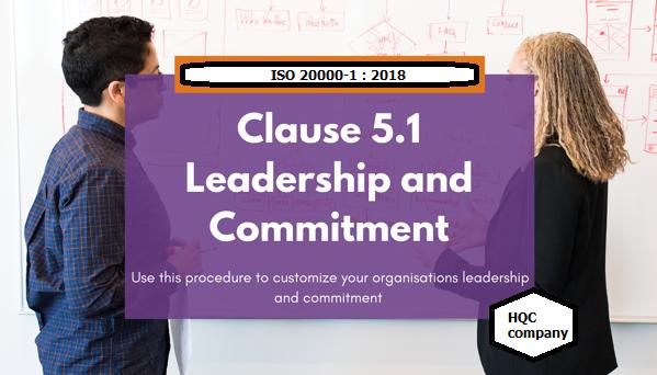 Điều khoản 5. Sự lãnh đạo ISO 20000