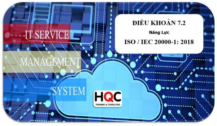 Điều khoản 7.2 năng lực ISO 20000