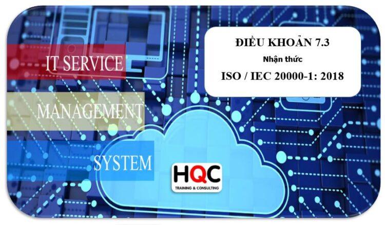 Điều khoản 7.3 nhận thức ISO 20000