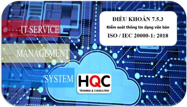 Điều khoản 7.5.3 kiểm soát thông tin ISO 20000