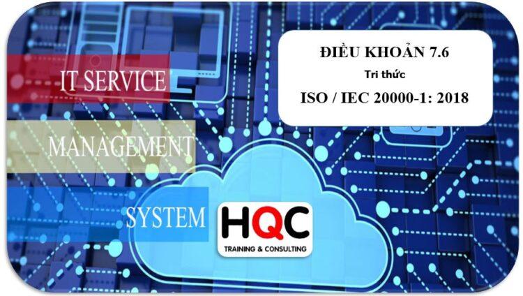Điều khoản 7.6 tri thức ISO 20000